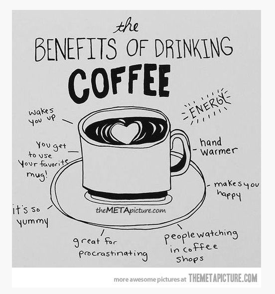 The benefits of coffee! <3