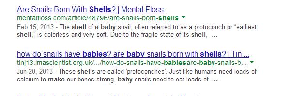 Snails! :)